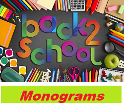 "Add A Monogram on ""Back to School Items"""