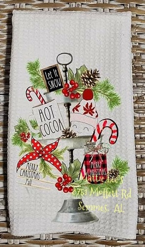 Hot Cocoa Christmas Kitchen Towel
