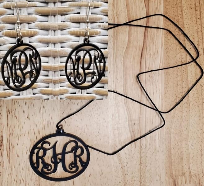 Acrylic Earrings and/or Necklace