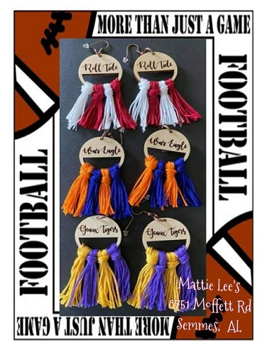 Alabama, Auburn or LSU Earrings