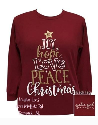 Christmas - Word Tree Long Sleeve