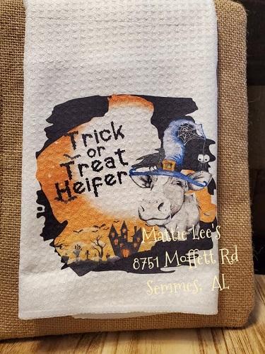 Trick A Treat Heifer Kitchen Towel