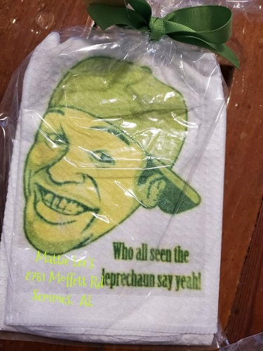 Crichton Leprechaun Face Kitchen Towel