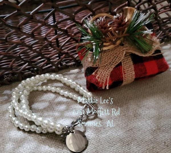 Pearl Like STAINLESS STEEL ENGRAVABLE BRACELET