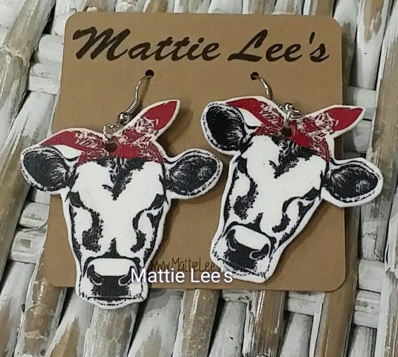 Heifer Cow Earrings