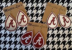 Alabama A TearDrop Earrings