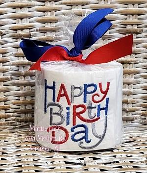 TP Birthday - Happy Birthday Blue/Red