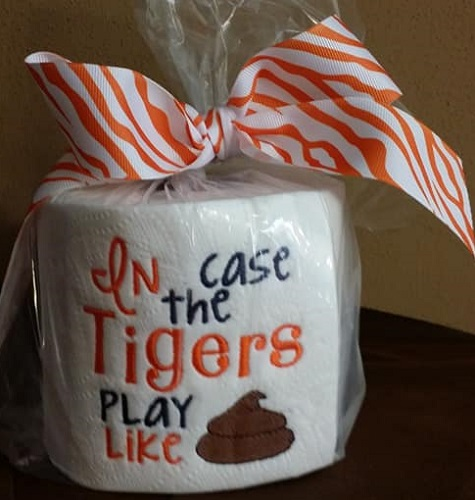 TP Football - In Case the Tigers - Orange and Blue