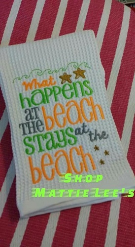 What Happens At The Beach Kitchen Towel