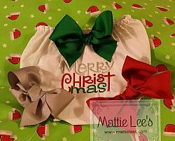 Merry Christmas Bloomers / Diaper Cover with Bows