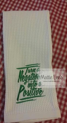 Turn A Negative Kitchen Towel