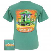 Girlie Girl - Lifeguard Shack Comfort Color Seamfoam Green