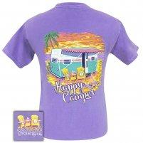 Girle Girl -  Happy Beach Camper Comfort Color Violet