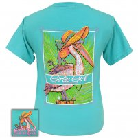 Girlie Girl -  Beach Pelican Comfort Color Lagoon Blue