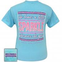 Girlie Girl - She leaves a Little Sparkle. Sky Blue