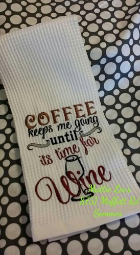 Coffee Keeps Me Going Kitchen Towel