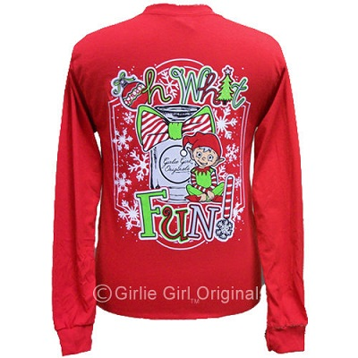Girlie Girl - Oh! What Fun Red Long Sleeve Shirt